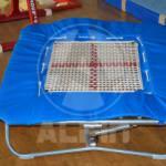 oprema za gimnastiko - trampolin 125x125 šolski z blazino 1